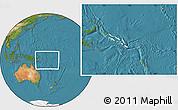 Blank Location Map of Solomon Islands, satellite outside