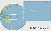 Blank Location Map of Solomon Islands, savanna style outside