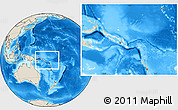 Blank Location Map of Solomon Islands, shaded relief outside