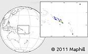 Flag Location Map of Solomon Islands, blank outside