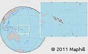 Gray Location Map of Solomon Islands