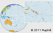 Political Location Map of Solomon Islands
