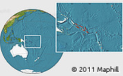 Satellite Location Map of Solomon Islands, highlighted continent