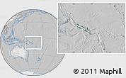 Satellite Location Map of Solomon Islands, lighten, desaturated