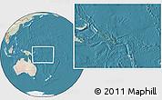 Satellite Location Map of Solomon Islands, lighten, land only