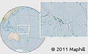 Satellite Location Map of Solomon Islands, lighten