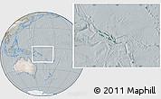 Satellite Location Map of Solomon Islands, lighten, semi-desaturated