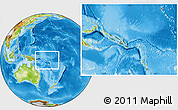 Satellite Location Map of Solomon Islands, physical outside