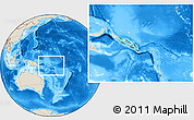 Satellite Location Map of Solomon Islands, shaded relief outside