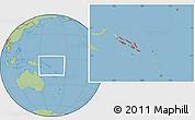 Savanna Style Location Map of Solomon Islands