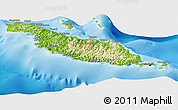 Physical Panoramic Map of Makira