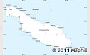 Silver Style Simple Map of Makira