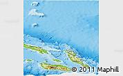 Physical Panoramic Map of Malaita
