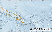 Political Map of Solomon Islands, lighten