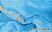 Political Map of Solomon Islands, political shades outside