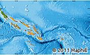 Political Map of Solomon Islands, satellite outside, bathymetry sea