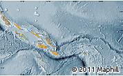 Political Map of Solomon Islands, semi-desaturated