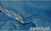 Political Shades Map of Solomon Islands, darken