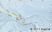 Political Shades Map of Solomon Islands, lighten