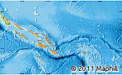 Political Shades Map of Solomon Islands, physical outside