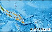 Political Shades Map of Solomon Islands, satellite outside, bathymetry sea