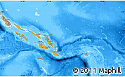 Political Shades Map of Solomon Islands, semi-desaturated, land only