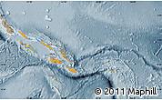 Political Shades Map of Solomon Islands, semi-desaturated