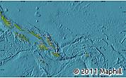 Satellite Map of Solomon Islands