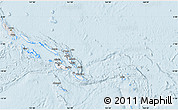 Silver Style Map of Solomon Islands