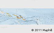 Political Panoramic Map of Solomon Islands, lighten