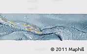 Political Panoramic Map of Solomon Islands, semi-desaturated