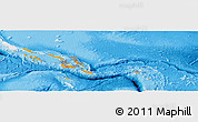 Political Panoramic Map of Solomon Islands, single color outside