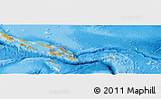 Political Shades Panoramic Map of Solomon Islands