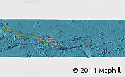 Satellite Panoramic Map of Solomon Islands