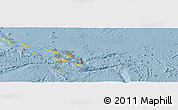 Savanna Style Panoramic Map of Solomon Islands