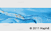 Shaded Relief Panoramic Map of Solomon Islands