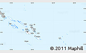 Gray Simple Map of Solomon Islands
