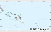 Gray Simple Map of Solomon Islands