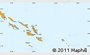 Political Simple Map of Solomon Islands