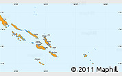 Political Shades Simple Map of Solomon Islands, political outside