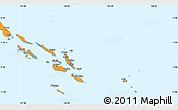 Political Shades Simple Map of Solomon Islands