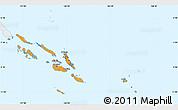 Political Shades Simple Map of Solomon Islands, single color outside