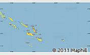 Savanna Style Simple Map of Solomon Islands