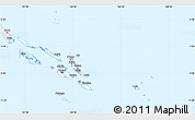 Silver Style Simple Map of Solomon Islands