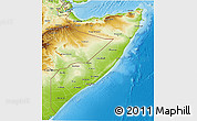 Physical 3D Map of Somalia
