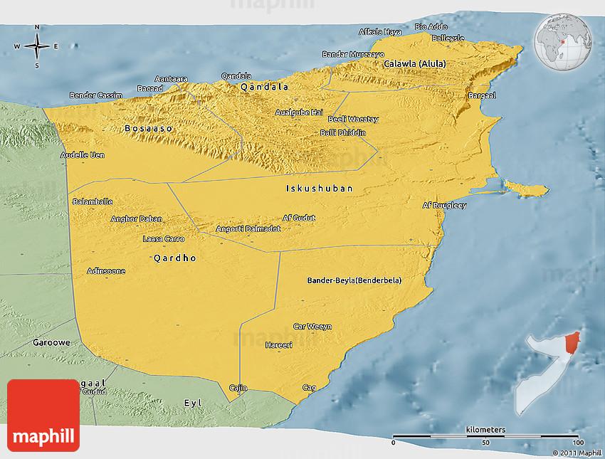 Savanna Style Panoramic Map Of Bari - Bari map