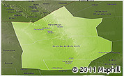 Physical Panoramic Map of Hiiran, darken