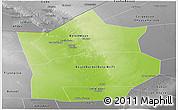 Physical Panoramic Map of Hiiran, desaturated
