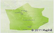 Physical Panoramic Map of Hiiran, lighten