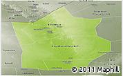 Physical Panoramic Map of Hiiran, semi-desaturated